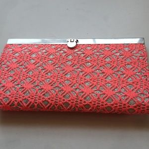 Pink and silver wallet